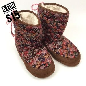 MAD LOVE KNIT BOOTIE SLIPPERS